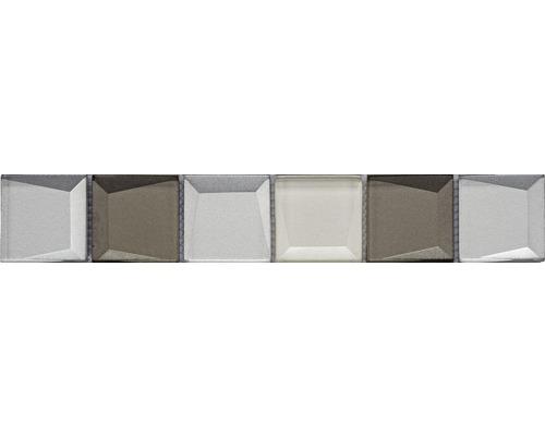 Glasbordüre Glas REFLEX beige mix 4,8x29,8 cm