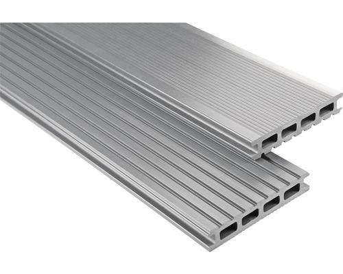 Konsta WPC Terrassendiele Primera grau glatt 26x145x5800 mm