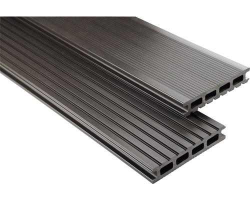 Konsta WPC Terrassendiele Primera graubraun glatt 26x145x4900 mm