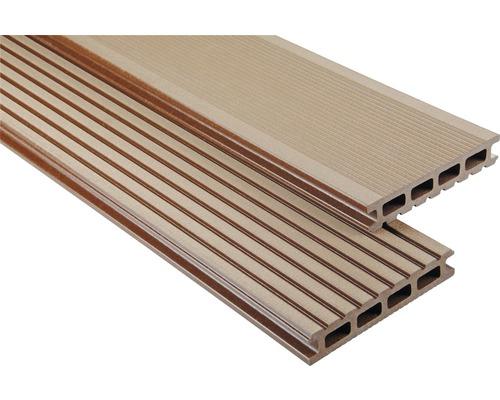 Konsta WPC Terrassendiele Primera braun gebürstet 26x145x3300 mm