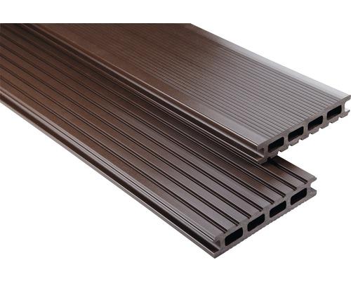 Konsta WPC Terrassendiele Primera schokobraun glatt 26x145x5900 mm