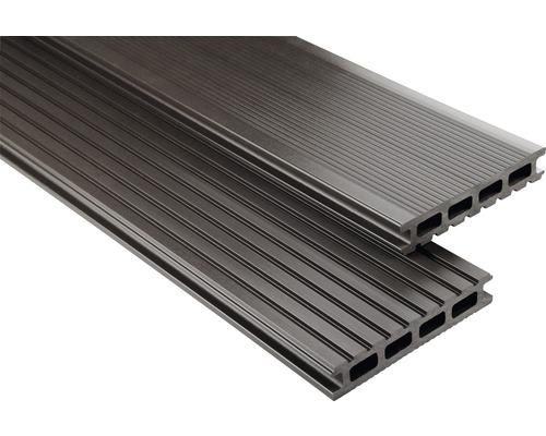 Konsta WPC Terrassendiele Primera graubraun glatt 26x145x5900 mm