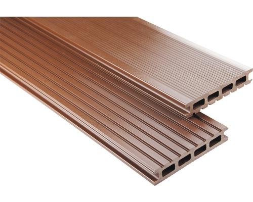 Konsta WPC Terrassendiele Primera braun glatt 26x145x5100 mm