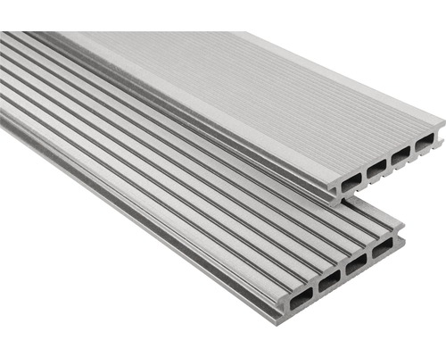 Konsta WPC Terrassendiele Primera grau gebürstet 26x145x4300 mm