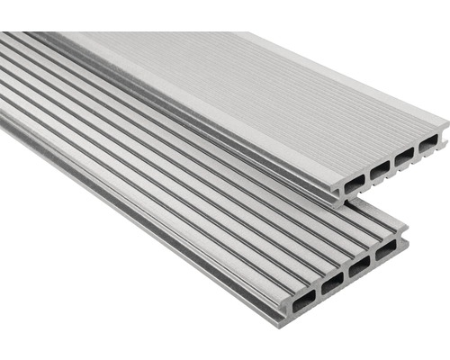 Konsta WPC Terrassendiele Primera grau gebürstet 26x145x5700 mm