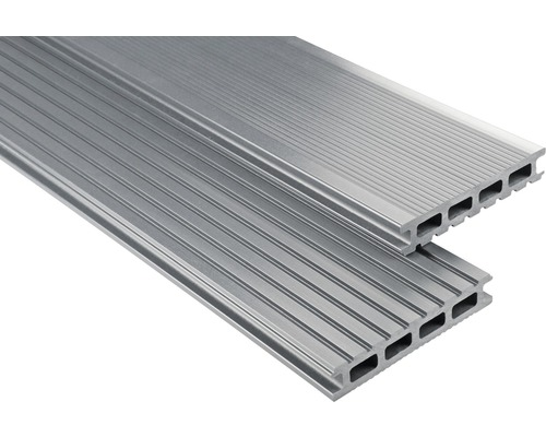 Konsta WPC Terrassendiele Primera grau glatt 26x145x3400 mm
