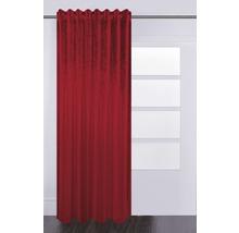 Schlaufenschal mit Faltenband Velvet bordeaux 140x280 cm