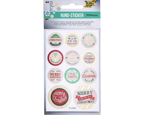Sticker Weihnachten Hotfoil 44 Stück