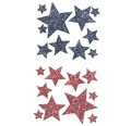Moosgummi Glitter-Sticker Sterne II