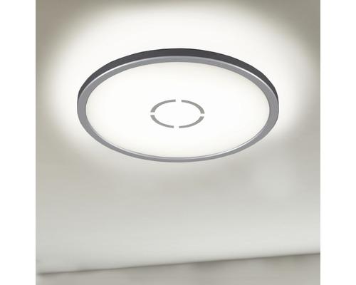 LED Deckenleuchte ultraflach 18W 2400 lm 4000 K neutralweiß HxØ 28/293 mm Free weiß/silber