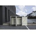 Mülltonnenbox HIDE Kunststoff 121x63,4x115,2 cm schwarz