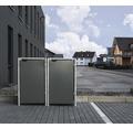 Mülltonnenbox HIDE Kunststoff 139,4x80,7x115,2 cm grau