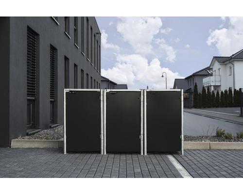 Mülltonnenbox HIDE Kunststoff 210x80,7x115,2 cm schwarz