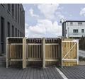 Mülltonnenbox HIDE Holz 210x80,7x115,2 cm natur