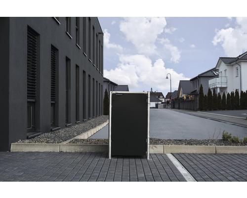 Mülltonnenbox HIDE Kunststoff 60,4x63,4x115,2 cm schwarz