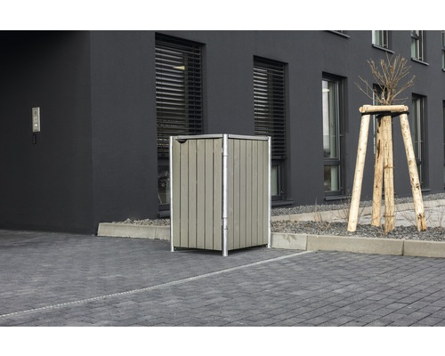 Mülltonnenbox HIDE Holz 60,4x63,4x115,2 cm grau