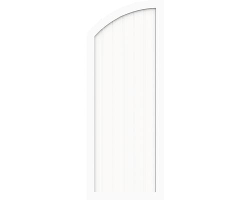 Sichtschutzelement Basic Line Typ H li Weiß 90 x 180/150 x 4,8 cm