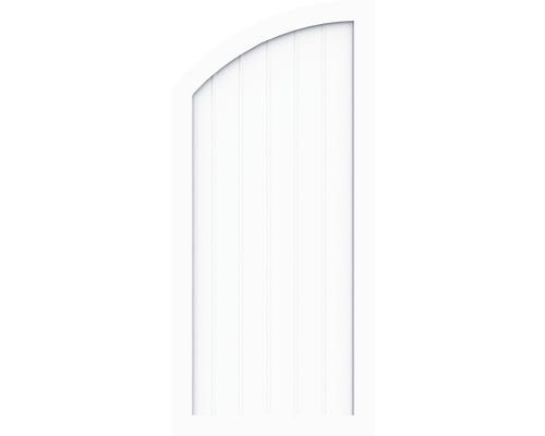 Sichtschutzelement Basic Line Typ Q, links, Weiß 90 x 150/120 x 4,8 cm