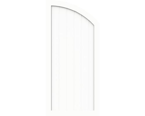 Sichtschutzelement Basic Line Typ Q, rechts, Weiß 90 x 150/120 x 4,8 cm