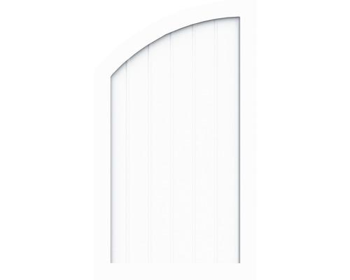 Sichtschutzelement Basic Line Typ R, links, Weiß 90 x 120/90 x 4,8 cm