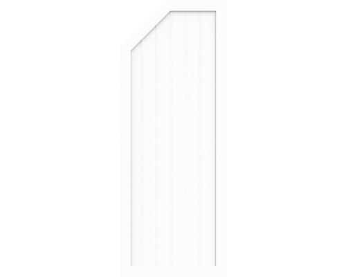 Sichtschutzelement Basic Line Typ E, links, Weiß 90 x 180/150 x 4,8 cm