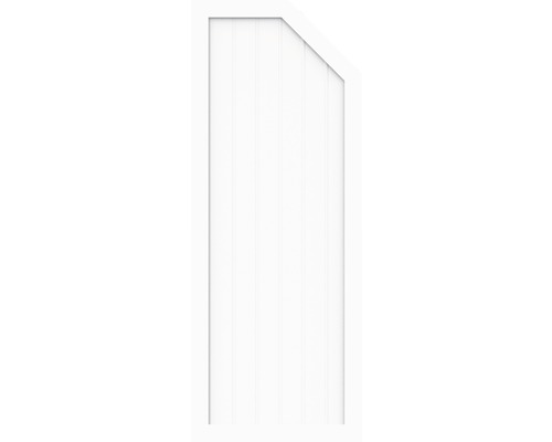 Sichtschutzelement Basic Line Typ E, rechts, Weiß 90 x 180/150 x 4,8 cm