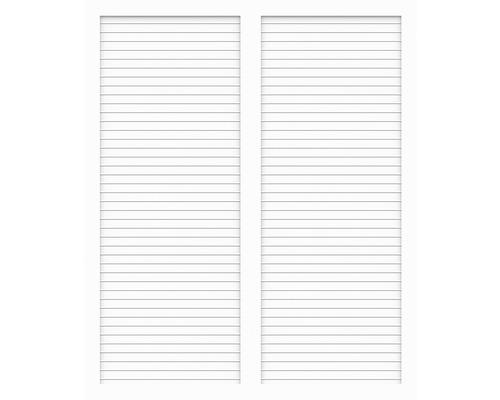 Sichtschtzelement Basic Line Typ S Weiß 180 x 180 x 4,8 cm