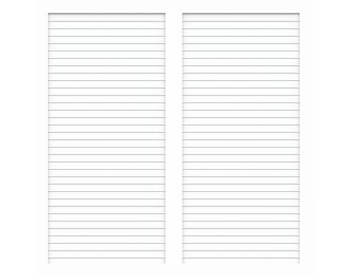 Sichtschutzelement Basic Line Typ U Weiß 180 x 150 x 4,8 cm