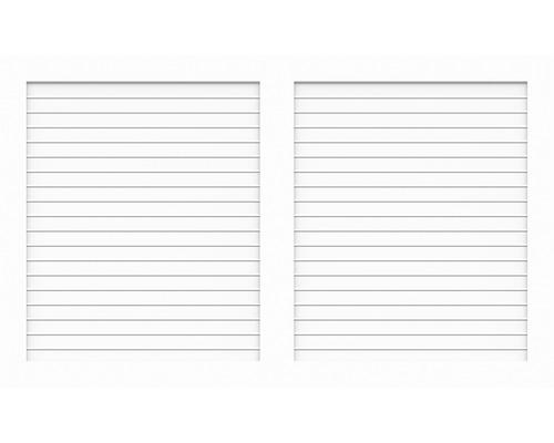 Sichtschutzelement Basic Line Typ W Weiß 180 x 90 x 4,8 cm