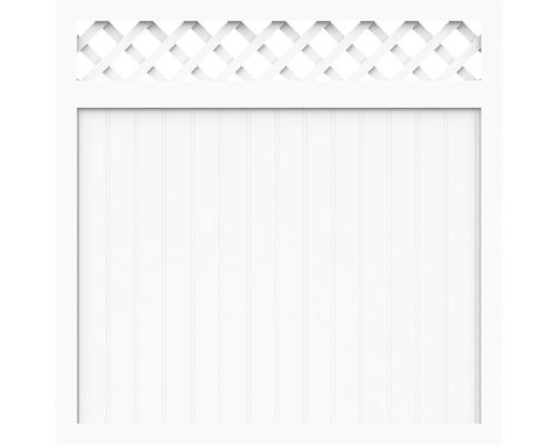 Sichtschutzelement Basic Line Typ O Weiß 180 x 150 x 4,8 cm