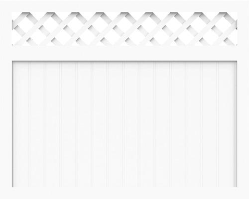 Sichtschutzelement Basic Line Typ N Weiß 180 x 120 x 4,8 cm