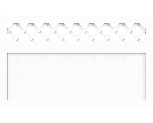 Sichtschutzelement Basic Line Typ K Weiß 180 x 90 x 4,8 cm