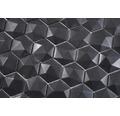 Glasmosaik Arctic 01 Hexagon Eco schwarz 3D 29x30 cm