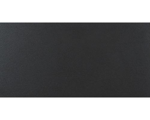 Feinsteinzeug Wand- und Bodenfliese Daly Vulcano schwarz 30 x 60 cm rekt. Lapp.