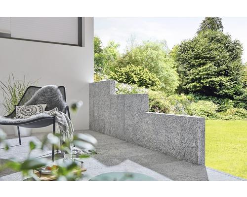 Palisade Granit grau 75 x 25 x 10 cm