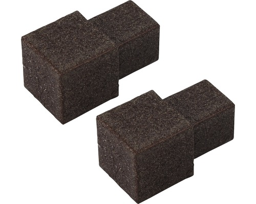 Aussenecke Squareline Aluminium braun 2 Stück