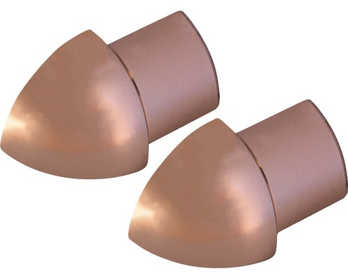 Aussenecke Durondell Aluminium Kupfer eloxiert 2 Stück