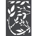 Mülltonnentür GABIO 120 l Floral 65x90 cm anthrazit
