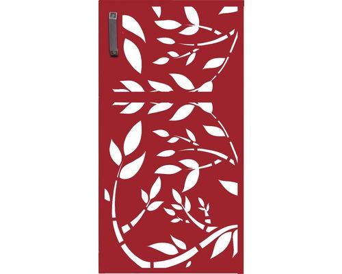 Mülltonnentür GABIO 240 l Floral 73x135 cm rubinrot