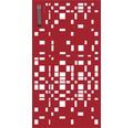 Mülltonnentür GABIO 240 l Geometrie 73x135 cm rubinrot