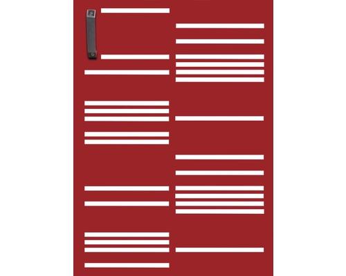 Mülltonnentür GABIO 120 l Stripes 65x90 cm rubinrot