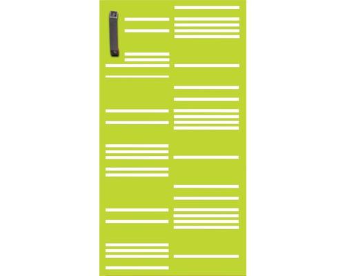 Mülltonnentür GABIO 240 l Stripes 73x135 cm trendgrün