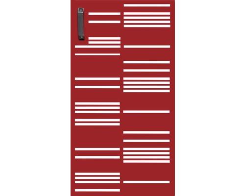 Mülltonnentür GABIO 240 l Stripes 73x135 cm rubinrot
