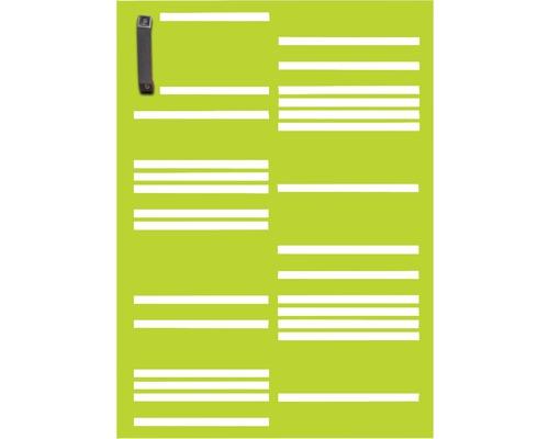 Mülltonnentür GABIO 120 l Stripes 65x90 cm trendgrün