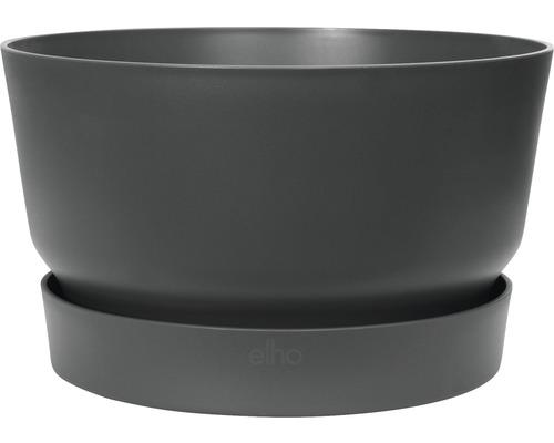 Pflanzschale greenville Ø 33 H 19,5 cm schwarz frostbeständig