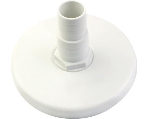Anschlußplatte für Poolsauger Kunststoff weiß