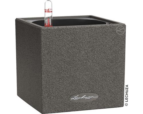 Blumentopf Canto Stone Kunststoff 14x14x14 cm schwarz inkl. Erdbewässerungsystem und Wasserstandsanzeiger