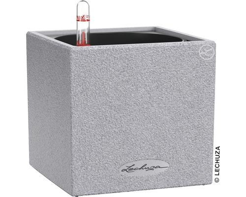 Blumentopf Canto Stone Kunststoff 14x14x14 cm steingrau inkl. Erdbewässerungsystem und Wasserstandsanzeiger