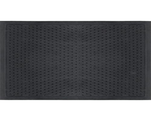 Gummimatte blocks schwarz 80x120 cm