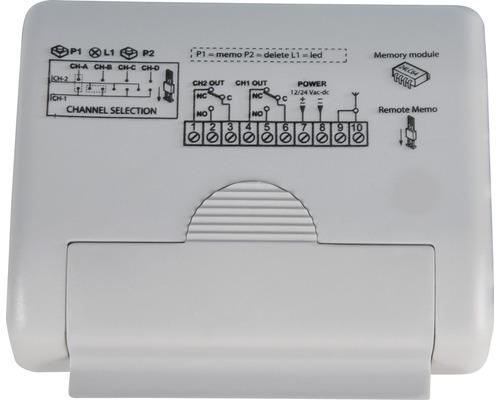 Externer Funkempfänger GAH Alberts 2-Kanal für E-Schiebetor Mosaik Frequenz 433 MHz